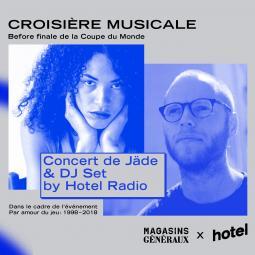 Croisière DJ Set before Finale Foot sur écran géant avec Hotel Radio Paris