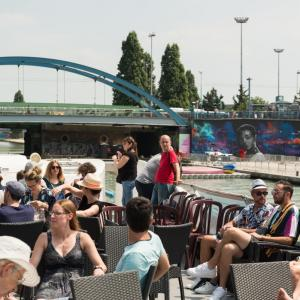 Brunch cruise on the Canal de l'Ourcq