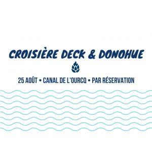 Croisière goumande et musicale : apéro by Deck & Donohue