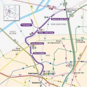 RATP  - Prolongement de la Ligne 14, de Saint-Lazare à Mairie de Saint-Ouen