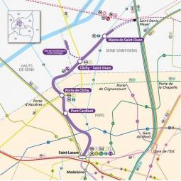RATP - Chantier de prolongement de la Ligne 14 à Mairie de Saint-Ouen
