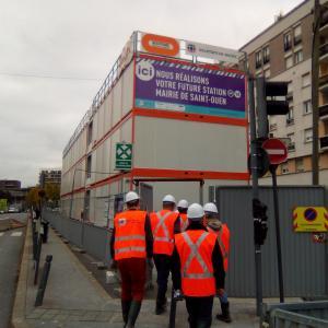 RATP - Chantier de la future station de la Ligne 14 de Mairie de Saint-Ouen