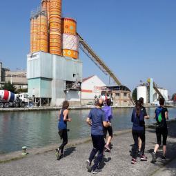 Running-visite du Parc de la Villette à la darse du Millénaire
