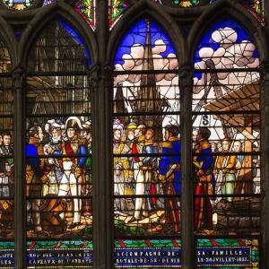 Les vitraux de la Basilique de Saint-Denis©Centre des monuments nationaux - Patrick Cadet