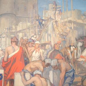 Peinture hôtel de Ville de Vincennes © Archives municipales de Vincennes