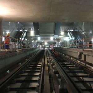 RATP – The building site of the future station Pont Cardinet on line 14