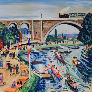 Les bords de Marne par Lucien Génin
