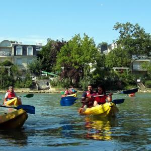 Balade sur la Marne en canoë-kayak à Nogent