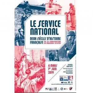 Affiche de exposition Le service national : Deux siècles d'histoire française ©SHD