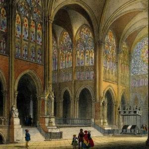 François Debret, la polychromie en architecture :  Saint-Denis à l'époque romantique