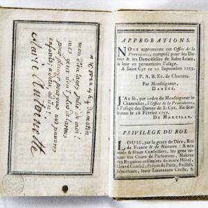 Livre d'heures de Marie-Antoinette © Bibliothèque municipale de Châlons-en-Champagne, photo Studio Roche