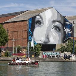 Street-art et canal de l'Ourcq : un mariage détonnant