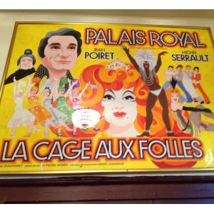 © Paris Gay Village. Affiche La Cage aux folles. Théâtre du Palais Royal.