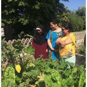 Atelier jardinage dans le parc de la Bergère