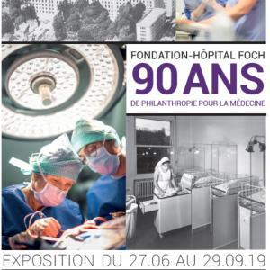 Affiche de l'exposition Fondation-Hôpital Foch : 90 ans de philanthropie pour la médecine © Ville de Suresnes