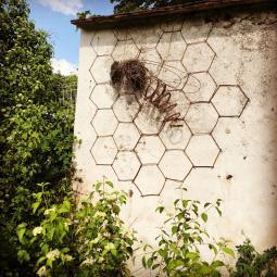Les oeuvres Land Art dans les murs à pêches