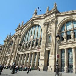 Gare du Nord railway station, Saint-Vincent de Paul church and Saint-Quentin indoor market