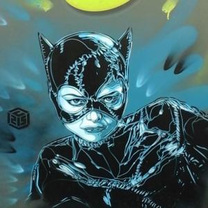 Catwoman par C215 à Vincennes