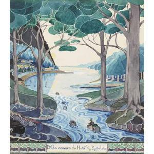 Ilustration du Hobbit 1937 - ©Bodleian Library / The Tolkien Estate Limited