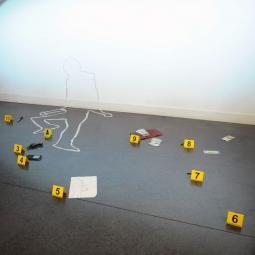 Reconstitution d'une scène de crime aux Archives Nationales