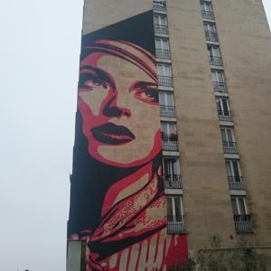 Fresques géantes dans le 13ème arrondissement