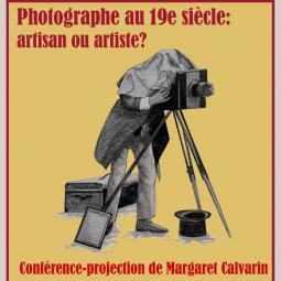 Conférence sur la place du photographe au 19ème siècle