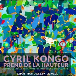 Le street artiste Cyril Kongo envahit le Toit de la Grande Arche