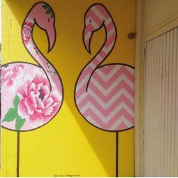 Atelier pochoir avec un artiste du street art