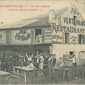 """Villetaneuse , """"Au Vert Galant"""" (ancien relais d'Henri IV), 1910-1913, 49Fi/9383, Droits réservés / AD"""