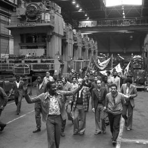 Défilé dans l'usine Renault-Billancourt, Boulogne-Billancourt, 1978, 129FI/1158, Fonds Pierre Trovel/AD