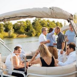 Private cruise on the river Marne