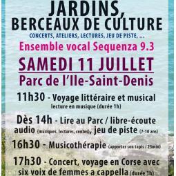 Voyage littéraire et musical dans le Parc de l'Île-Saint-Denis - Sequenza 9.3