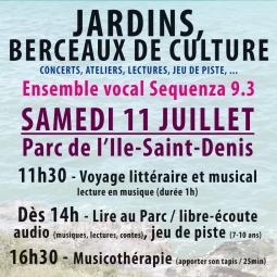 Atelier de musicothérapie - Parc de L'Ile-Saint-Denis - Sequenza 9.3