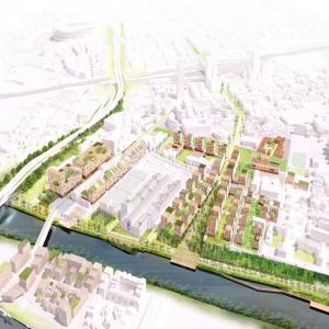 Visite du chantier du futur Village Olympique 2024