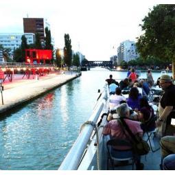 Croisière sur l'Ourcq : reconversion et vie du canal + Parc de la Villette