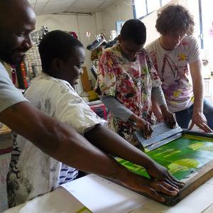Atelier sérigraphie avec l'artiste Antoine Petit