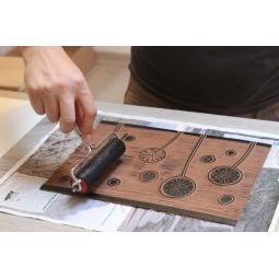 Atelier d'initiation à la linogravure Lisadie Dutillieux et Catherine Kostaki