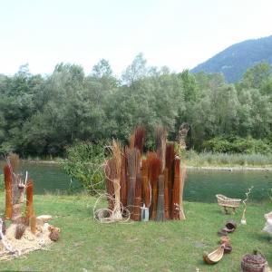 Atelier autour de la vannerie à l'archéosite du parc de la Haute-Île - Journées du patrimoine