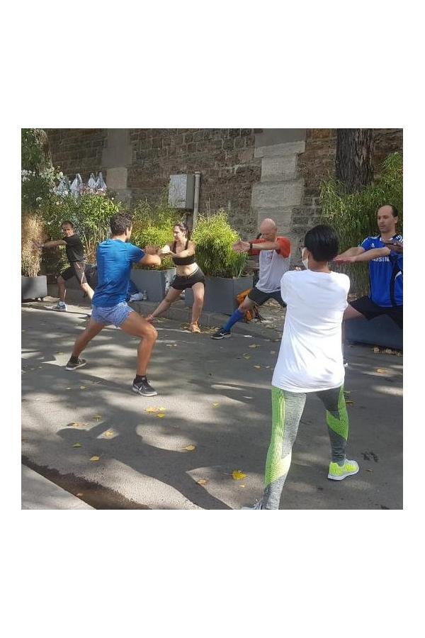 Cours de fitness au parc de la Villette avec NaturoRun