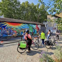 Découverte de fresques à vélo sur l'Ile-Saint-Denis + initiation à la peinture murale