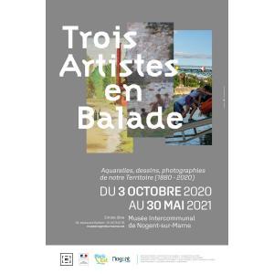 Visite virtuelle de l'exposition Trois Artistes en balade