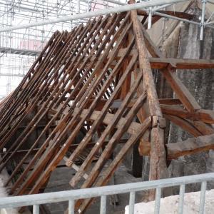 FCharpente de la maison-échafaudage de la Fabrique de la ville, Photo M. Wyss, doc UASD