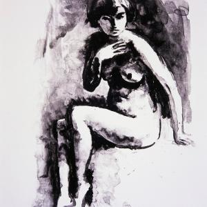 Maurice Asselin (1882 – 1947), Etude de nu (lithographie sur papier, 1925) MAHPE Saint-Denis. Crédits : I. Andréani