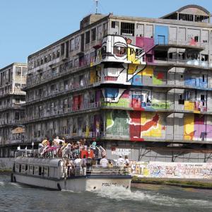 Cycle virtuel - Art urbain le long du canal de l'Ourcq