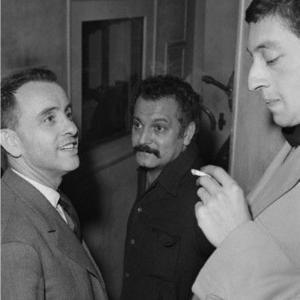 Aux 3 baudets 18 ème avec Jacques Canetti et Georges Brassens en 1959