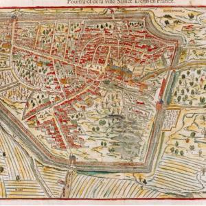 François de Belleforest, Pourtraict de la ville de Sainct Denis en France, vers 1575, MAHPE ©Irène Andréani