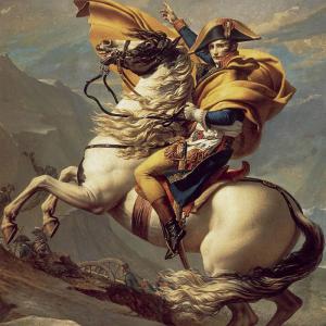 Napoléon franchissant le col du Grand Saint-Bernard par Jacques-Louis David