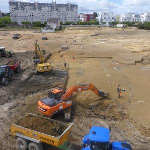 Visite du chantier archéologique des Ardoines à Vitry