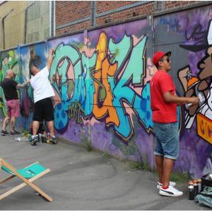 Croisière Street Art Avenue sur le canal Saint-Denis du 6b à l'Auber graffiti show