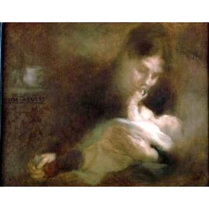 Le peintre Eugène Carrière à la Villa des Arts